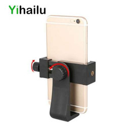Wholesale Universal Cell Phone Tripod Adapter Holder Smartphone Universal Mount Adapte Rotates Vertical and Horizontal Adjustable Clamp