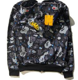 mode chandail Surpiqué camouflage et capuchon veste zippé noir européen de requin blanc et hommes cardigan à américain et femmes aqavwXxrAW