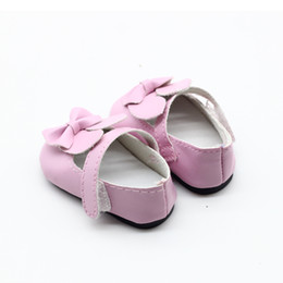 Accessories For Boots Shoes NZ - 1pair Doll Boots Shoes Fits FOR 18 inch American Girl Doll Shoes With Bow Doll Accessories 9 Colors Shoes for Dolls Boots