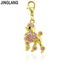 f1fe69166 JINGLANG 30 Pieces Rhinestone Dog Charm Best friend mom Charms Pendant  Jewelry Wholesale