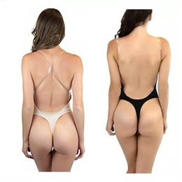 e7f2b02b48c Invisible Bra for Women Push up Sexy Backless Bra Plunge Bras Bralette  Clear Strap Brassiere Bodysuit Bralet Plus Size 32-38