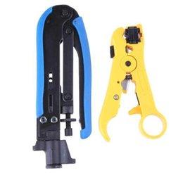 Zangen Multitool Crimper Automatische Kabel Draht Stripper Cutter Für Rg59 Rg6 Rg7 Rg11 Cat5 Cat6 Koaxial Video Tragbare Multifunktionale Werkzeuge