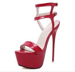 b7b2a4c99cf7 2018 Fashion Summer Women High Heels Sandals 16cm Sexy Stripper Shoes Party  Pumps Shoes Women Gladiator Platform Sandals U335