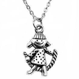 Necklaces Pendants Australia - WYSIWYG 5 Pieces Metal Chain Necklaces Pendants Pendant Necklace Women Rope Skipping Girl 26x18mm N2-B10221