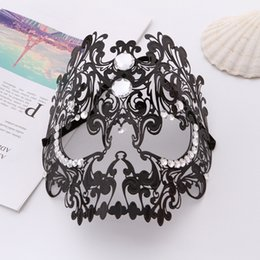 face jewelry mask 2019 - Face Skull Design Mask Hollow Out Flower Jewelry Decoration Halloween Christmas Masks cheap face jewelry mask