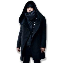 asian winter coats 2019 - Kewlstyle Men's winter jacket coat hooded long sleeve mens overcoat peacoat wool Asian size windbreaker women erkek
