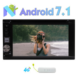 double din gps dvd bluetooth Australia - 2GB+32GB Android 7.1 Double Din Car Stereo Bluetooth 2 Din Car DVD Player Auto Radio GPS Sat Navigation Fast-boot WIFI Mirror Link