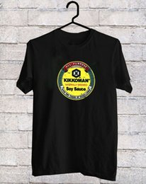 Tee Designs NZ - Custom T Shirt Design Crew Neck Design Short Sleeve Kikkoman Soy Sauce Black T-Shirt Tee Shirt Sizes S To 3XL Mens T Shirts