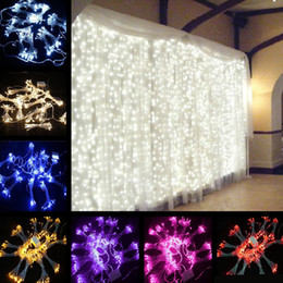 Wholesale led christmas lights outdoor nz buy new wholesale led 8m x 3m led home outdoor holiday christmas decorative wedding xmas string fairy curtain garlands strip party lights 6pieces lot aloadofball Gallery