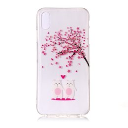 Rabbit Silicone Phone Cases UK - For Iphone XS XS Plus Samsung Galaxy NOTE9 Cherry Blossom Flower TPU Soft Case Crystal Transparent Tree Floral Rabbit Phone Skin Cover 20pcs