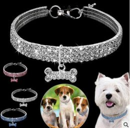 Discount summer dog collars - Bling Rhinestone Dog Collar Crystal Puppy Chihuahua Pet Dog Collars Leash For Small Medium Dogs Mascotas Accessories Pin