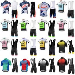fb22e0af5 Mavic LOTTO 2018 team Cycling Jersey summer sports jersey Cycling Clothing  Men Short sleeve MTB Bib shorts set Sportswear D0702
