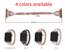 iwatch straps Australia - Women Jewelry Watchband for iWatch Apple Watch 38mm 42mm Series 3 2 1 Diamond Band Stainless Steel Strap Bracelet