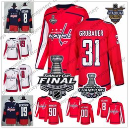 Washington Capitals 31 Philipp Grubauer 25 Devante Smith-Pelly 29 Christian  Djoos 39 Chiasson 2018 Stanley Cup Champions Red White Jerseys ae2748bcb0c5