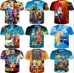 tee 3d Australia - Newest Fashion Anime Dragon Ball Z Goku 3D T Shirts Fashion Summer Men Women Super Saiyan Vegeta Tee Tops Clothes