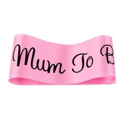 $enCountryForm.capitalKeyWord UK - 3 colors Mum To Be Sash Baby Shower baldric Boy Girl Party Decoration Centerpieces Pink Blue White