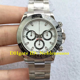 Discount mens swiss chronograph luxury watches - JH Factory Luxury White Dial Ceramic Bezel 116500LN 116500 LN 116500 Cosmograph 40mm Swiss CAL.4130 Movement Automatic M