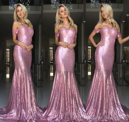 Holiday Evening Gowns Floor Length Australia - 2018 Rose Pink Evening Dress Mermaid Off-Shoulder Long Formal Holiday Wear Prom Party Gown Custom Made Plus Size