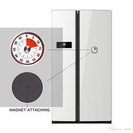 Rouge Rond Magntique Minuterie Trompette Mcanique Compte Rebours Cuisine Outil En Acier Inoxydable Temps De Cuisson Horloge Alarme Vente Chaude 25tc Dd