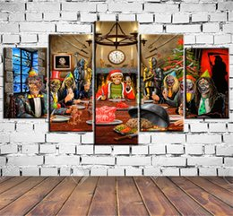 Framed Christmas Paintings Australia - Iron Maiden Christmas Card ,5 Pieces Home Decor HD Printed Modern Art Painting on Canvas (Unframed Framed)