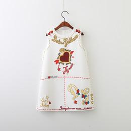 Logotipo do desenhista Roupa do Bebé Crianças Vestidos Bonitos Elegante Floral Impresso Vestido Sem Mangas Saia Logotipo De Coração De Luxo Roupas De Bebê Menina venda por atacado