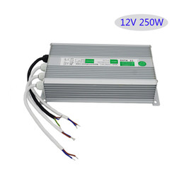 Switch Ip67 UK - IP67 Waterproof Led Switch Power Supply 250W Led Driver12V 250W SMPS Constant Voltage For Strip Light