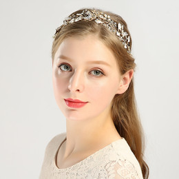 $enCountryForm.capitalKeyWord NZ - The Precious Rose-plated Gold Bridal Headdress Wedding Accessories The Perfect Combination Of Pearls And Alloys Forms A Hair Band