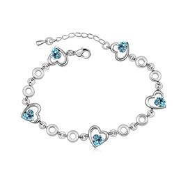 $enCountryForm.capitalKeyWord Australia - Love Vintage Charm Bracelet Femme Bohemian Jewelry Made with Swarovski Elements Crystal Fashion Heart Shape Design Bijoux Gift