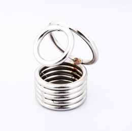 $enCountryForm.capitalKeyWord Australia - 2018 new Ball Stretcher Stainless Steel Sex toy Cobra cock cage male sex toy cock ring 5 rings with four sizes