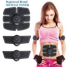 Wholesale Li ion Wireless Abdominal Muscle Toner Body Toning Fitness EMS Fit Weight Muscle Training Electrical Muscle Stimulation Smart Fitness DHL
