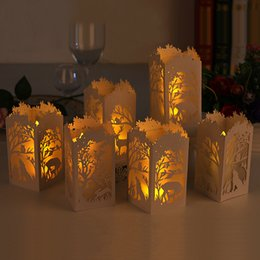 Wholesale Laser Cut Hollow Lampshade for LED small tea light.Apply to Festival,Date, Birthday and so on,Beautiful Paper lamp cover.