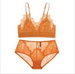 37cc705e9b6 Foreverfad 2018 Hot sales sexy lace eyelash two-piece bralette push up bra  panty set women underwear night lingerie 082001