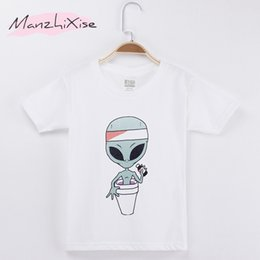 $enCountryForm.capitalKeyWord Australia - 2018 Brand Children T-shirts Alien Funny Design 100% Cotton Child Boy Short T Shirt Kids Clothes Girl Tops Baby Clothing 4T-12T