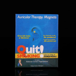 Wholesale New Therapy Magnet Auricular Quit Smoking Zerosmoke ACUPRESSURE Patch Stop Smoking ear massager No Cigarettes Health Care