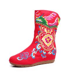 a8754022f79 beijing zapatos de tela de tela tradicional de las mujeres botas de altura  interna creciente tacones