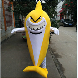 cartoon shark costume Canada - 2018 High quality Lobster shrimp shark shark dolphin octopus cartoon Mascot Costumes walking Mascot Costume performing props clothing