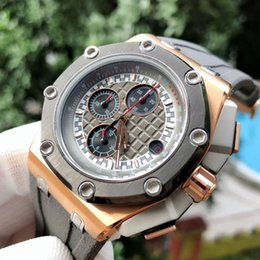 Imported batterIes online shopping - Royal Oak six pin multi function men s watch Strong metal feel Top imported six pin multi function vk quartz movement Enhanced Minera
