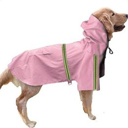 Water Proof Coatings NZ - New Creative Labrador Golden Hair Reflective Stripe Water Proof Anti Snow Coat Jacket Clothes Apparel Dog Raincoat Multi Color 32xq aa