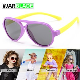 Wholesale Rubber frame New Children TAC Polarized Sunglasses Kids Shades For Girls Boys Goggle Glasses Eyewear Occhiali Ciclismo