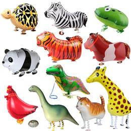 $enCountryForm.capitalKeyWord Canada - 1pc Cute Walking Animals Balloon Pet Cat Giraffe Dinosaur Frog Walk Foil Balloon For Baby Shower Decorations Kids Birthday Gifts