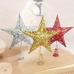 $enCountryForm.capitalKeyWord NZ - Christmas Tree Top Star Christmas Star Tree Topper For Table Christmas Ornament Xmas Decorative Party Event Supplies New Year