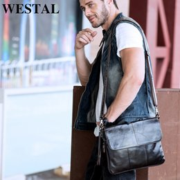 $enCountryForm.capitalKeyWord Canada - WESTAL Men's Shoulder Bags Male Genuine Leather Crossbody Bag for Men Clutch Bags Zipper Casual Messenger Bag Men Leather Brand