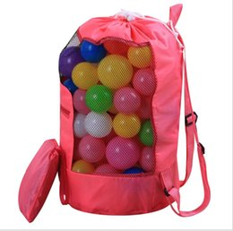 3dcc95b1a1 Green nylon drawstrinG backpack online shopping - Summer kids beach mesh  bags beach toy tools storage
