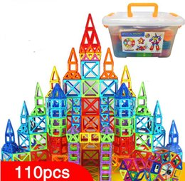 magnetic construction toys for children NZ - 110pcs Magnetic Blocks Magnetic Designer Building Construction Toys Set Magnet Educational Toys For Children Kids Gift