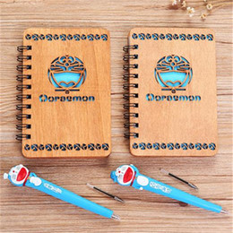 $enCountryForm.capitalKeyWord NZ - 2 Styles Doraemon Anime NotWith Pen Set Wooden Diary Day Book Blue Journal Stationery School Supplies Gifts For Kids 17cm