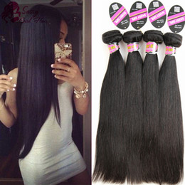 $enCountryForm.capitalKeyWord Australia - Brazilian Hair Straight 7A Grade 100% Unprocessed Virgin Human Hair Extensions 4 Bundles Weave Machine Double Weft Natural Color