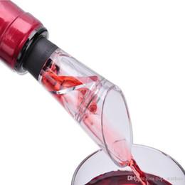 2018 Nuovo vino rosso imbuto bottiglia versatore gomma siliconica vino aeratore decanter versatore DHL libero HH9-2351 in Offerta