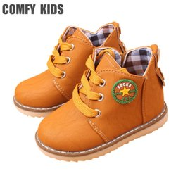 $enCountryForm.capitalKeyWord Canada - Super Hot Selling Child Boots Shoes For Girls Boys Boots Fashion Flat Baby Toddler Shoes Spring Autumn Children Ankle Kids