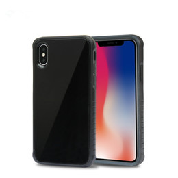 glossy hard case cover UK - Glossy Tempered Glass Back Cover Shockproof Protective Hard PC Soft TPU Bumper Case For iphone XS MAX XR Samsung J8 J7 J3 OPP Bag