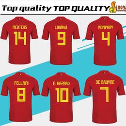 Belgium 2018 World Cup Home red top Thailand Quality LUKAKU FELLAINI E. HAZARD KOMPANY DE BRUYNE Soccer Jersey 18 19 Belgium football shirt 2f4436006